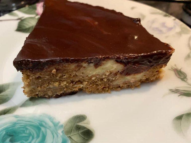 Torta fredda crema al cacao light.